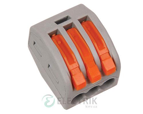 Строительно-монтажная клемма СМК 222-413 многоразовая, IEK