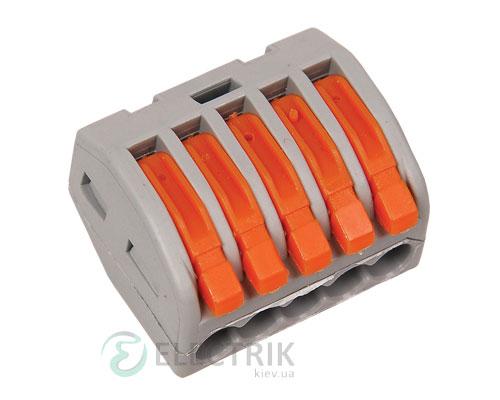 Строительно-монтажная клемма СМК 222-415 многоразовая, IEK
