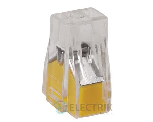 Строительно-монтажная клемма СМК 773-322 желтая, IEK