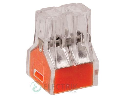 Строительно-монтажная клемма СМК 773-324 оранжевая, IEK