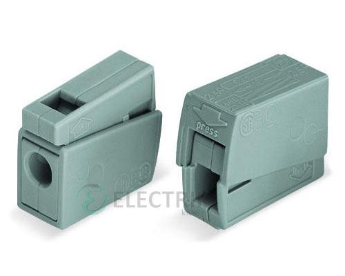 Строительно-монтажная клемма для светильников 1-проводная 1,0-2,5 мм² без пасты, WAGO (Германия)