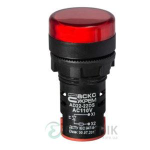 Светосигнальная арматура AD22-22DS красная 110В АC, АСКО-УКРЕМ