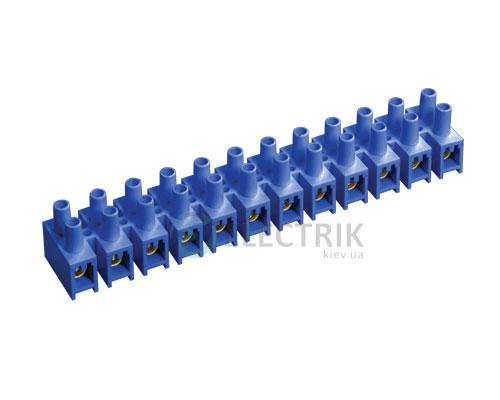 Зажим винтовой ЗВИ-10 2,5-6 мм² полистирол синий, IEK