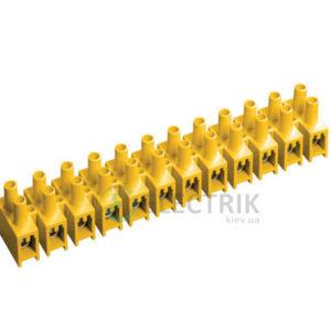 Зажим винтовой ЗВИ-10 2,5-6 мм² полистирол желтый, IEK