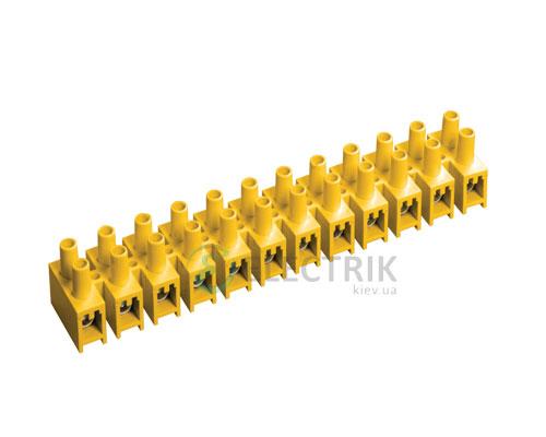 Зажим винтовой ЗВИ-3 1,0-2,5 мм² полистирол желтый (упаковка 2 шт.), IEK