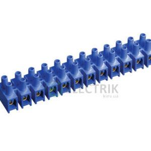 Зажим винтовой ЗВИ-5 1,5-4 мм² полистирол синий, IEK