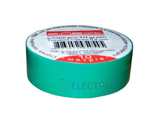 Изолента 0,2×19 мм зеленая (10 м) e.tape.pro.10.green, E.NEXT