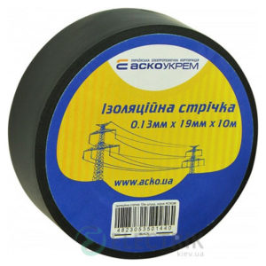 Изолента АСКО-УКРЕМ ПВХ 0,13мм*19мм/10м черная