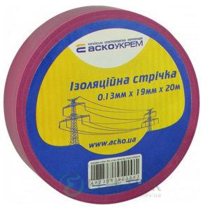 Изолента АСКО-УКРЕМ ПВХ 0,13мм*19мм/20м фиолетовая