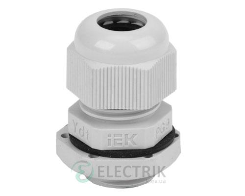 Сальник PG 9 диаметр кабеля 6-7 мм IP54, IEK