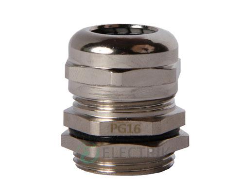 Ввод кабельный латунный герметичный e.met.pg.stand.16 диаметр кабеля 10-14 мм IP54, E.NEXT