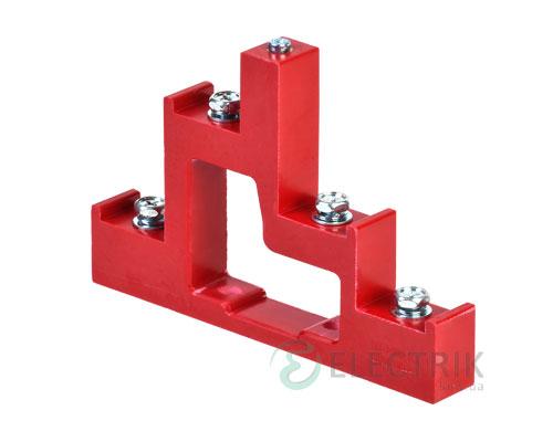 Изолятор ступенчатый ИС4-25/1-15 (4×М6; 1×М5) силовой с болтом, IEK
