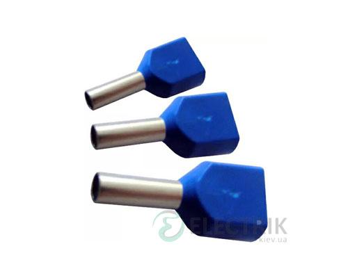 Наконечник TE 0.75-08 трубчатый в изоляции для двух проводов (упаковка 100 шт.), АСКО-УКРЕМ