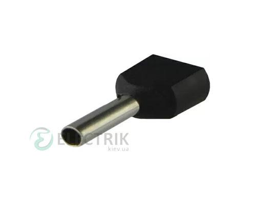 Наконечник TE 1.5-12 трубчатый в изоляции для двух проводов (упаковка 100 шт.), АСКО-УКРЕМ