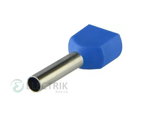 Наконечник TE 2.5-10 трубчатый в изоляции для двух проводов (упаковка 100 шт.), АСКО-УКРЕМ