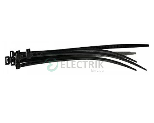 Хомут кабельный 200×3,5 мм черный (упаковка 100 шт.), АСКО-УКРЕМ