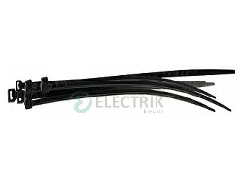 Хомут кабельный 200×4,6 мм черный (упаковка 100 шт.), АСКО-УКРЕМ