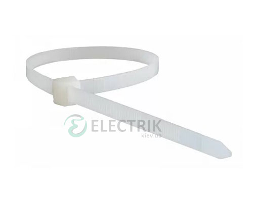 Хомут кабельный 250×3,5 мм белый (упаковка 100 шт.), АСКО-УКРЕМ