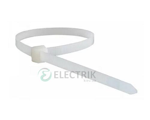 Хомут кабельный 300×6,5 мм белый (упаковка 100 шт.), АСКО-УКРЕМ