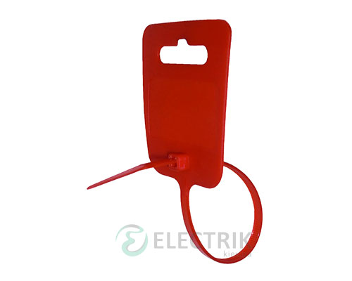 Хомут маркировочный красный e.dct.stand.5.250.red, E.NEXT