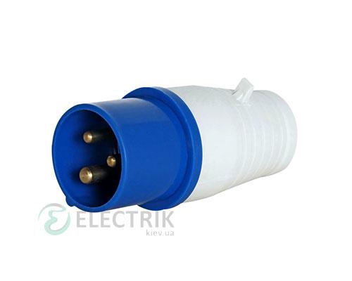 Силовая вилка переносная e.plug.pro.3.16 (013) 2P+PE 16А 220В IP44, E.NEXT