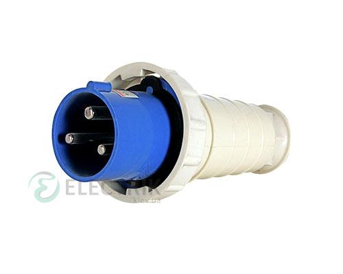 Силовая вилка переносная e.plug.pro.3.63 (033) 2P+PE 63А 220В IP67, E.NEXT