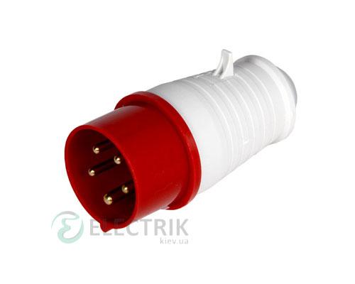 Силовая вилка переносная e.plug.pro.5.32 (025) 3P+N+PE 32А 380В IP44, E.NEXT
