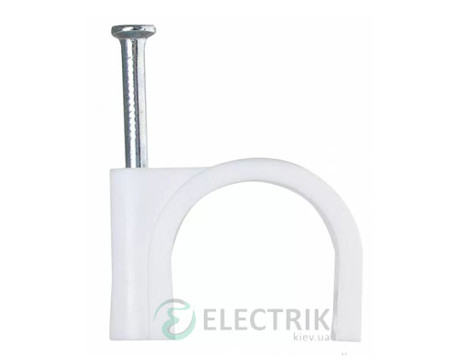 Скоба кабельная с гвоздем 25 мм круглая (упаковка 50 шт.), АСКО-УКРЕМ