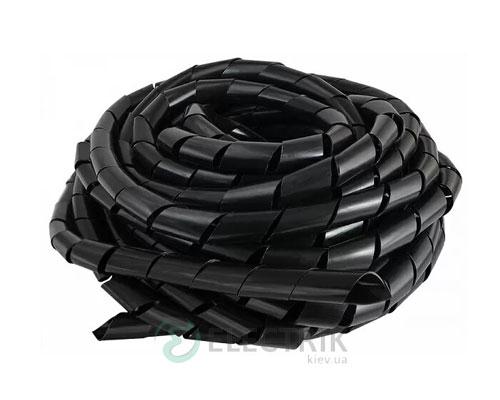 Спиральная обвязка для провода ∅15-100 мм SWB-19 черная (10 м), АСКО-УКРЕМ