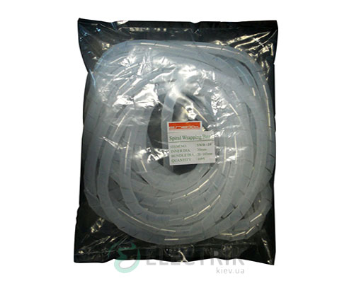 Спиральная обвязка для провода ∅15-100 мм e.spiral.stand.19 (10 м), E.NEXT