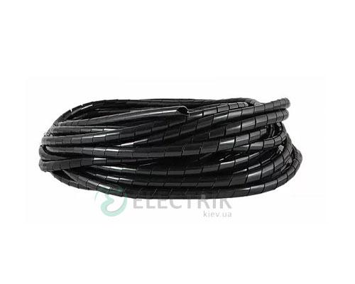 Спиральная обвязка для провода ∅4-50 мм SWB-06 черная (10 м), АСКО-УКРЕМ