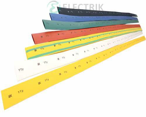 Термоусадочная трубка ТТУ 8/4 желто-зеленая (отрезок 1 м), IEK