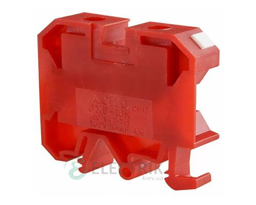 Винтовой контактный зажим JXB 16/35 на DIN-рейку красный, АСКО-УКРЕМ