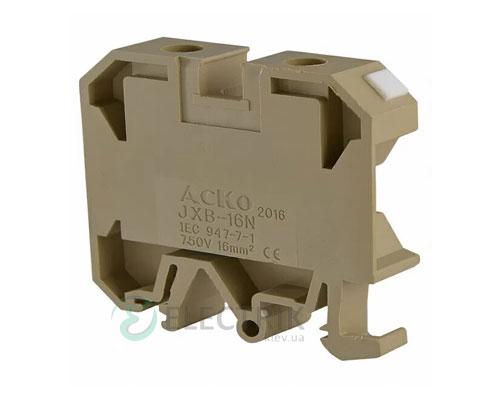 Винтовой контактный зажим JXB 16/35 на DIN-рейку желтый, АСКО-УКРЕМ