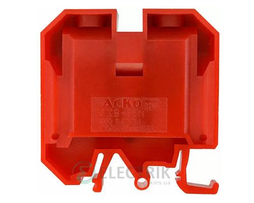 Винтовой контактный зажим JXB 35/35 на DIN-рейку красный, АСКО-УКРЕМ