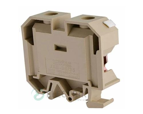 Винтовой контактный зажим JXB 35/35 на DIN-рейку желтый, АСКО-УКРЕМ