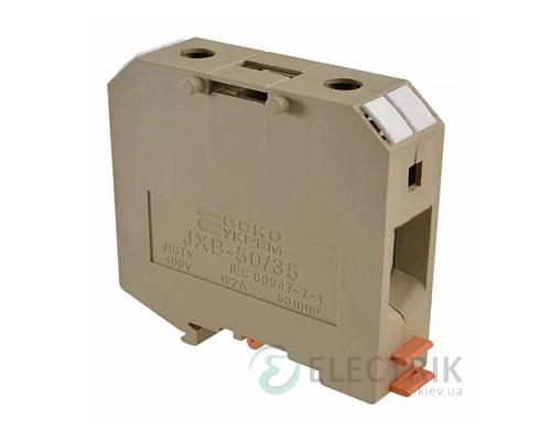 Винтовой контактный зажим JXB 50/35 на DIN-рейку желтый, АСКО-УКРЕМ
