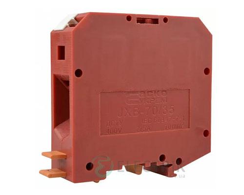 Винтовой контактный зажим JXB 70/35 на DIN-рейку красный, АСКО-УКРЕМ