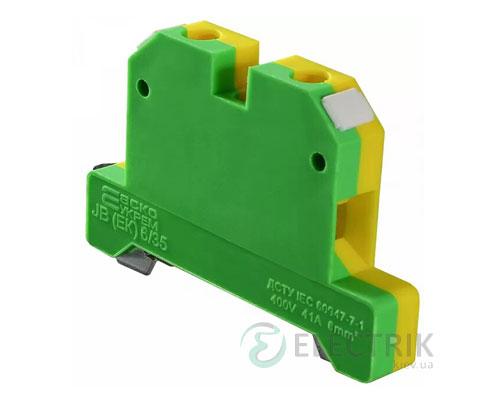 Винтовой заземляющий контактный зажим JB(ЕК) 6/35 на DIN-рейку, АСКО-УКРЕМ