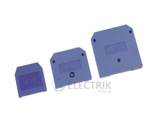 Заглушка для зажима наборного ЗНИ-4 мм² синяя, IEK
