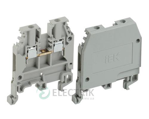 Зажим наборный ЗНИ-2,5 мм² серый (без маркера), IEK