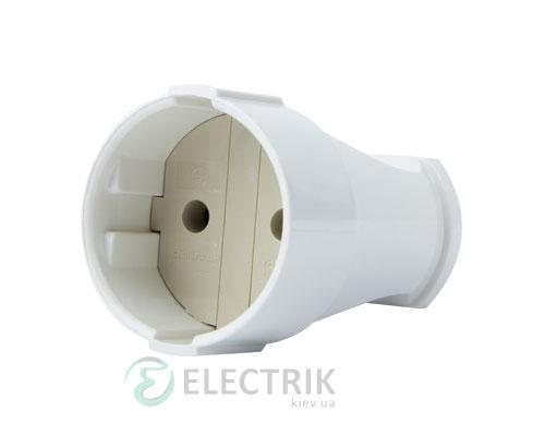 Розетка переносная без заземления 10А белая e.socket.001.10.white, E.NEXT