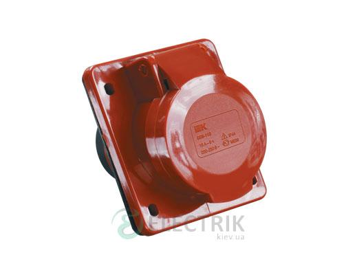 Розетка ССИ-414 стационарная для скрытой проводки 3P+PE 16А 380В IP44, IEK