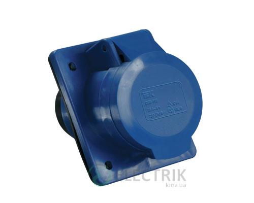 Розетка ССИ-423 стационарная для скрытой проводки 2P+PE 32А 220В IP44, IEK