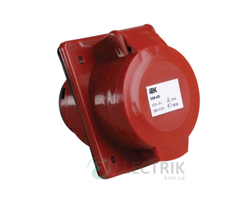 Розетка ССИ-425 стационарная для скрытой проводки 3P+PE+N 32А 380В IP44, IEK