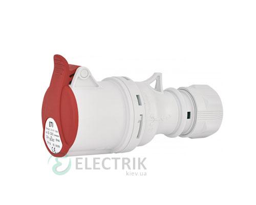 Розетка кабельная ES-3243 IP44 (32A, 400V, 3P+PE), ETI (Словения)