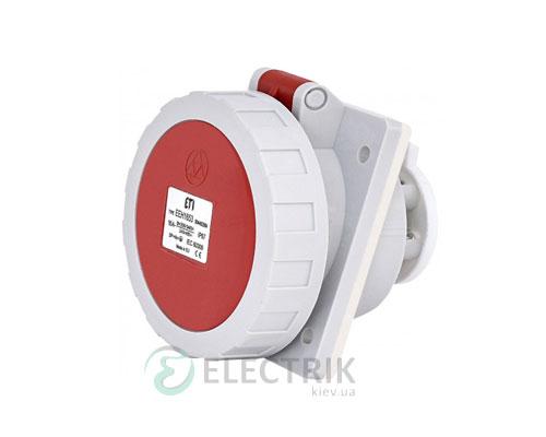 Розетка встраиваемая EEH-1653 IP67 (16A, 400V, 3P+N+PE), ETI (Словения)
