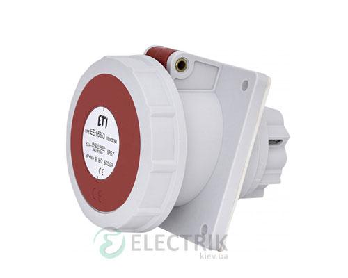 Розетка встраиваемая EEH-6353 IP67 (63A, 400V, 3P+N+PE), ETI (Словения)
