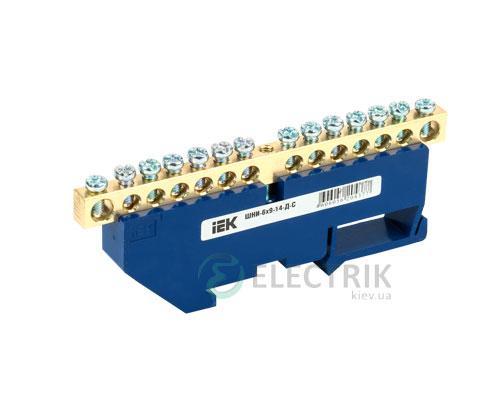 Шина нулевая с DIN-изолятором ШНИ-6x9-14-Д-С, IEK