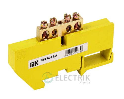 Шина нулевая с DIN-изолятором ШНИ-6x9-4-Д-Ж, IEK
